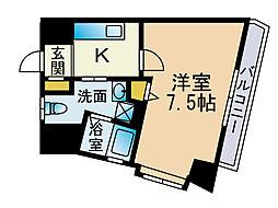 ベネフィス赤坂[11階]の間取り
