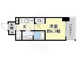 Osaka Metro長堀鶴見緑地線 京橋駅 徒歩3分の賃貸マンション 14階1Kの間取り