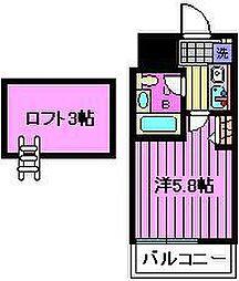 TOP南浦和第一[3階]の間取り