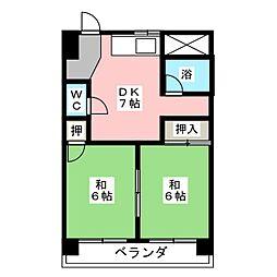 三和ハイツ日吉ビル[4階]の間取り