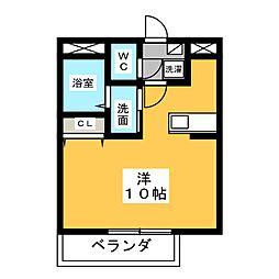 コーポ昴[1階]の間取り