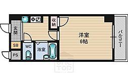 パインコート江坂2[2階]の間取り
