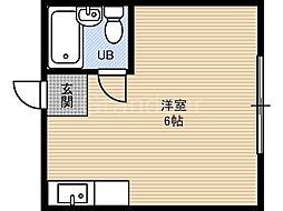 大阪府東大阪市森河内西1丁目の賃貸マンションの間取り