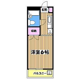 シエール・エイト[1階]の間取り