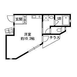 バーンハイツ平井[101号室]の間取り