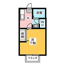 サンシャインパレス B棟[1階]の間取り