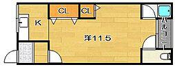コーポ高島B棟[207号室]の間取り