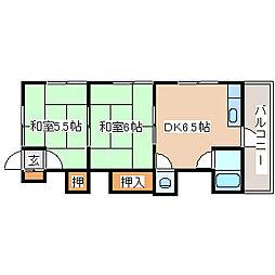 兵庫県神戸市須磨区妙法寺の賃貸アパートの間取り