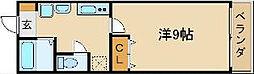 ラ・カサ・デ天王寺屋[2階]の間取り