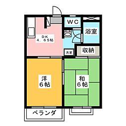 フィフティストーム剣崎[1階]の間取り