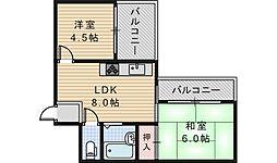 シティパレス今川パート3[5階]の間取り