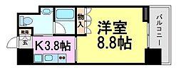 ベルファース尼崎[4階]の間取り