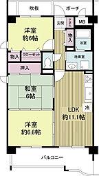 KDXレジデンス夙川ヒルズ 1番館(旧オクトス夙川)[0607号室]の間取り