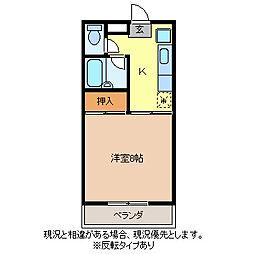 コーポ松岡[1階]の間取り