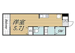 JR総武線 千葉駅 徒歩20分の賃貸アパート 3階ワンルームの間取り