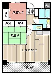 イエローマンション[605号室]の間取り