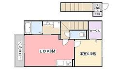千葉県船橋市東船橋6丁目の賃貸アパートの間取り