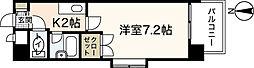 広島高速交通アストラムライン 伴駅 徒歩5分の賃貸マンション 6階1Kの間取り