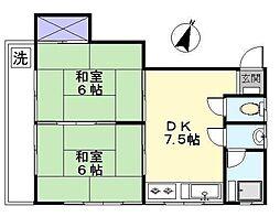 東栄コーポ[2階]の間取り