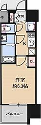 アドバンス大阪グロウス 8階1Kの間取り