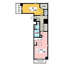 バウスステージ高田馬場 3階1LDKの間取り