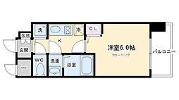 プレサンス京都五条天使突抜[507号室号室]の間取り