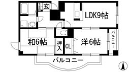 コートハウス神田[2階]の間取り
