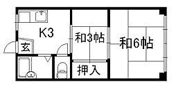 第一光マンション[3階]の間取り