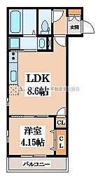 K's Residence瓢箪山[3階]の間取り