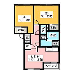 ロイヤル木の家[2階]の間取り