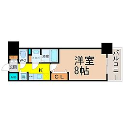 プレサンス新栄町ギャラント[2階]の間取り