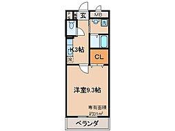 京都府京都市伏見区向島善阿弥町の賃貸マンションの間取り