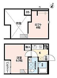 埼玉県草加市松江1丁目の賃貸アパートの間取り