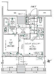 都営浅草線 大門駅 徒歩14分の賃貸マンション 3階1LDKの間取り
