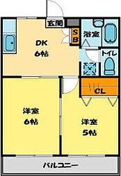 埼玉県川越市今成4丁目の賃貸マンションの間取り