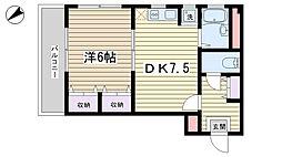 カルチェラタン動坂[301号室]の間取り