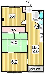 一乗寺コーポラス[4階]の間取り