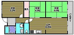 ニュー泉北マンション[4階]の間取り