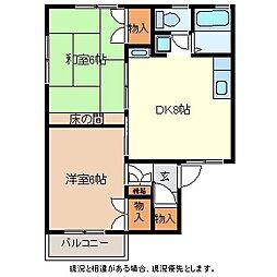 セジュール吉田C棟[2階]の間取り