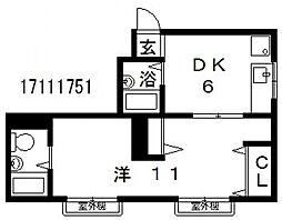 城谷ビル[4階]の間取り