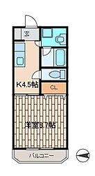 サクセスY[305号室]の間取り