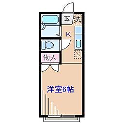コーポフジタA[2階]の間取り