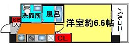 エステムコート梅田・天神橋IIグラシオ[6階]の間取り