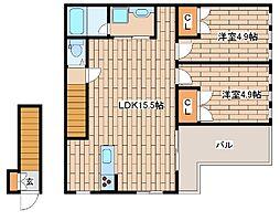 [テラスハウス] 兵庫県神戸市中央区再度筋町2丁目 の賃貸【/】の間取り