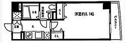 東京都品川区東品川1丁目の賃貸マンションの間取り