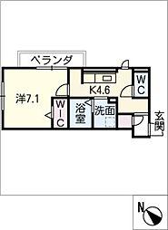D‐roomビーチルック 3階1SDKの間取り