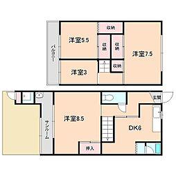 橋本貸家[1階]の間取り