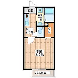 ブランフルールA棟[1階]の間取り