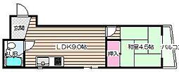 シャトー東梅田[4階]の間取り