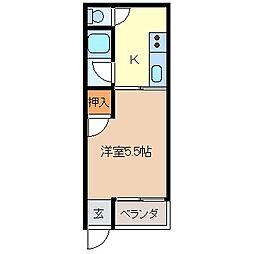 ハイツ山崎[1階]の間取り